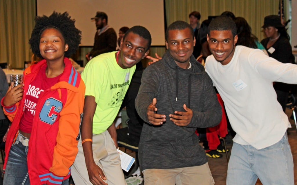 Youth Networking for Community Change-Reaiah from Youth UnleasED in New Haven, Keith and Latrell from Creative Youth Productions in Bridgeport and Josh from Breakthru in New Haven.